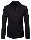 cheap Men's Blazers & Suits-Men's Business Basic Blazer-Solid Colored