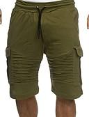 baratos Calças e Shorts Masculinos-Homens Activo / Básico Chinos / Calças Esportivas Calças - Sólido