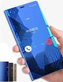 hesapli Cep Telefonu Kılıfları-Pouzdro Uyumluluk Samsung Galaxy Note 9 / Note 8 / Note 5 Satandlı / Ayna / Flip Tam Kaplama Kılıf Solid Sert PC