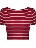 ieftine Tricou-tricou sport pentru femei - gât rotund dungat