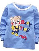 tanie Topy dla niemowląt-Dziecko Dla dziewczynek Podstawowy Nadruk Długi rękaw Bawełna Bluzka Niebieski / Brzdąc