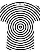 お買い得  メンズTシャツ&タンクトップ-男性用 メッシュ Tシャツ ストライプ