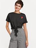 billige T-skjorter til damer-T-skjorte Dame - Ensfarget Ut på byen