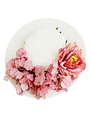 cheap Women's Shirts-Fabrics Hats / Headwear with Floral 1pc Wedding / Special Occasion Headpiece