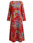 baratos Vestidos de Mulher-Mulheres Para Noite Algodão Solto balanço Vestido Longo