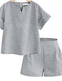 ieftine Costum Damă Două Bucăți-Pentru femei De Bază Set - Mată, Pantaloni