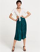 tanie Damskie spodnie-Damskie Podstawowy / Wzornictwo chińskie Bawełna Linia A / Swing Spódnice - Wyjściowe Solidne kolory Pofałdowany Wysoka talia