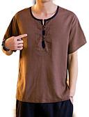 povoljno Muške majice i potkošulje-Majica s rukavima Muškarci Izlasci Jednobojni