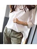 preiswerte Bluse-Damen Solide Hemd
