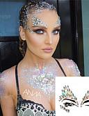 זול טישרטים לגופיות לגברים-1 pcs צבעים לצביעת הפנים קעקועים זמניים סדרת תכשיטים / סדרה רומנטית קריסטל אמנות גוף פנים
