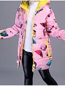 cheap Girls' Jackets & Coats-Kids Girls' Basic / Street chic Print Print Long Sleeve Cotton Down & Cotton Padded