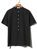 tanie Koszulki i tank topy męskie-T-shirt Męskie Moda miejska Okrągły dekolt Solidne kolory / Krótki rękaw