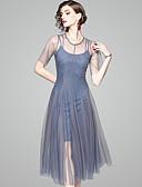 tanie Sukienki-Damskie Święto Moda miejska Szczupła Pochwa / Spódnica Sukienka - Solidne kolory, Wiązanie Do kolan / Lato