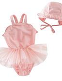 povoljno Donje rublje i čarape za djevojčice-Dijete koje je tek prohodalo Djevojčice Plaža Jednobojni Kupaći kostim