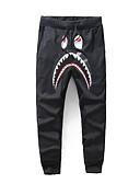 ieftine Pantaloni Bărbați si Pantaloni Scurți-Bărbați Bumbac Pantaloni Chinos Pantaloni Geometric / Bloc Culoare / Scrisă