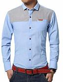 זול חולצות פולו לגברים-קולור בלוק עם קפוצ'ון חולצה - בגדי ריקוד גברים / שרוול ארוך