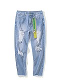 povoljno Muške duge i kratke hlače-Muškarci Osnovni Traperice Hlače Geometrijski oblici