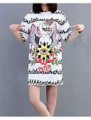ieftine Tricou-Pentru femei Tricou Floral / Animal / Scrisă Imprimeu