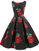 billige Hatter til damer-Dame Vintage Bomull Tynn Bukser - Blomstret Trykt mønster Svart / Ut på byen