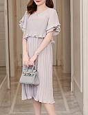 povoljno Ženske haljine-Žene Izlasci Šifon Haljina V izrez Midi