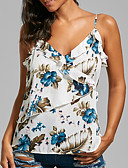 ieftine Bluze & Camisole Femei-Pentru femei Cu Bretele Tank Tops Bumbac Floral
