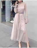 זול חליפות שני חלקים לנשים-שמלות אחיד / גיאומטרי - סט בגדי ריקוד נשים
