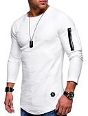 abordables Camisetas y Tops de Hombre-Hombre Chic de Calle / Exagerado Camiseta Un Color