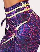 preiswerte Damen Leggings-Damen Ausgehen Sportlich Legging - Galaxis / Einfarbig Hohe Taillenlinie