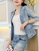 cheap Women's Denim Jackets-women's denim jacket - contemporary v neck