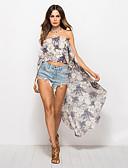 ieftine Bluză-Pentru femei Tricou Boho - Floral Imprimeu