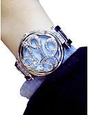billige Trendy klokker-Dame Armbåndsur Quartz Kronograf Selvlysende Smuk Legering Band Analog Blomst Elegant Sølv / Gylden - Gull Sølv / Imitasjon Diamant