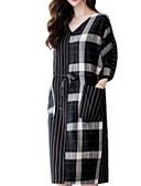 cheap Women's Dresses-Women's Cotton Shift Dress V Neck
