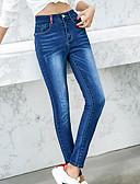 ieftine Pantaloni de Damă-Pentru femei Zvelt Blugi Pantaloni - Mată Talie Înaltă Negru