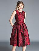 povoljno Ženske haljine-Žene Vintage / Sofisticirano A kroj Haljina - Print, Cvjetni print Do koljena