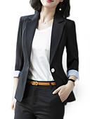 cheap Women's Dresses-Women's Basic Slim Blazer-Solid Colored