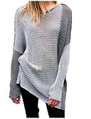 cheap Women's Sweaters-Women's Street chic Pullover - Color Block