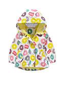 povoljno Vanjska odjeća za bebe-Dijete Djevojčice Vintage Jednobojni Dugih rukava Normalne dužine Pamuk Jakna i kaput Bijela 100 / Dijete koje je tek prohodalo
