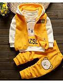 billige Sett med Gutter babyklær-Baby Gutt Vintage Daglig Ensfarget / Geometrisk Langermet Normal Lin / Polyester Tøysett Blå