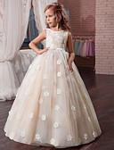 זול שמלות לבנות-שמלה מקסי ללא שרוולים גב חשוף / רשת / דפוס פרחוני Party / חגים וינטאג' / מתוק בנות ילדים / כותנה