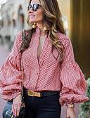baratos Camisas Femininas-Mulheres Camisa Social Xadrez Decote em V Profundo