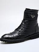 cheap Men's Blazers & Suits-Men's Comfort Shoes Leather Fall / Winter Preppy Boots Booties / Ankle Boots Black / Combat Boots