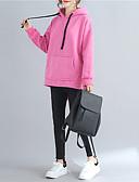 ieftine Tricou-Pentru femei Mărime Plus Size Bumbac Hanorac cu Glugă Mată