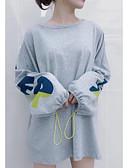 olcso Print Dresses-női póló - geometrikus, kerek nyakú