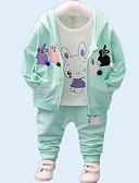 povoljno Kompletići za bebe-Dijete Djevojčice Osnovni Dnevno Print Dugih rukava Regularna Komplet odjeće purpurna boja / Dijete koje je tek prohodalo