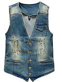 זול תחתוני גברים אקזוטיים-אחיד סגנון רחוב וסט - בגדי ריקוד גברים ג'ינס / ללא שרוולים