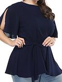 ieftine Bluză-Pentru femei Mărime Plus Size Bluză Ieșire Mată