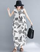 olcso Női ruhák-Női Bő Egyenes Ruha Maxi