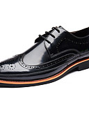 abordables Camisas de Hombre-Hombre Zapatos Bullock Cuero Primavera / Otoño Británico Oxfords Negro / Gris / Wine / Fiesta y Noche