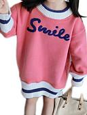 povoljno Haljine za djevojčice-Djeca Djevojčice Osnovni Dnevno Jednobojni / Print Dugih rukava Regularna Poliester Trenirka s kapuljačom Blushing Pink 100