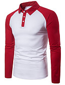 olcso Férfi pólók-Aktív Férfi Polo - Egyszínű, Kollázs
